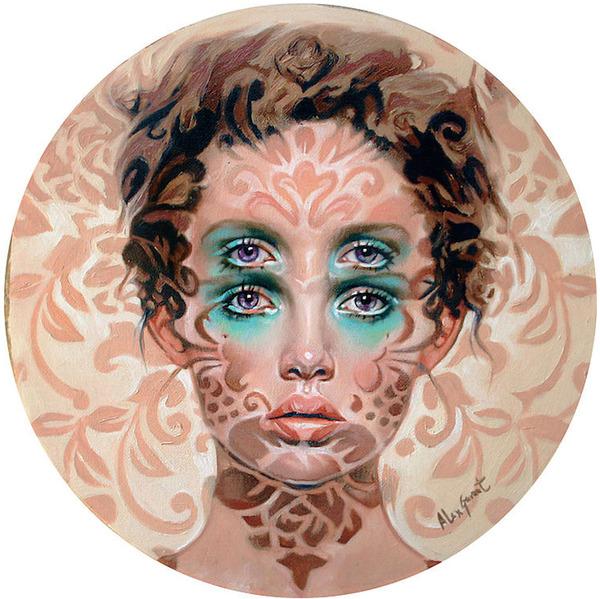 ダブルビジョンの錯視絵画アート  アレックス・ガーランド 10