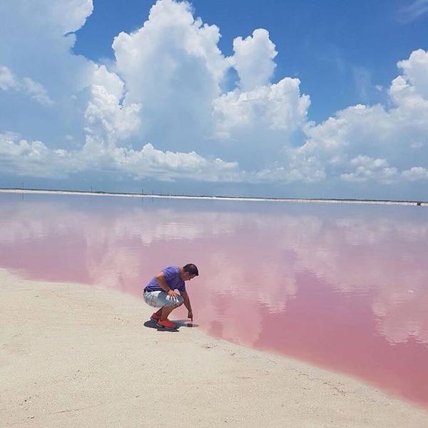 メキシコの塩湖が美しいピンクでミラクルファンシーだよー (6)