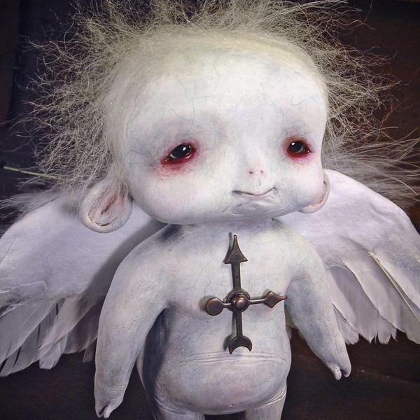 キモカワ!?ポリマークレイ製の手作りクリーチャー人形 (12)