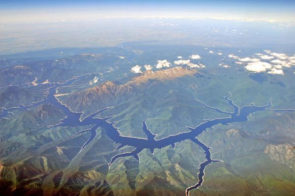 ロシア、エニセイ川の風景