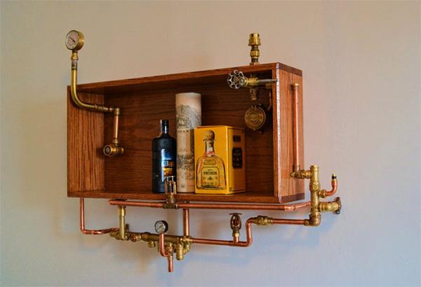 スチームパンクっていいよね。真鍮、銅、金属部品で作る家具 (6)