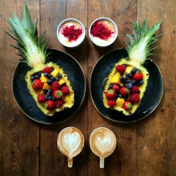 美味しさ2倍!毎日シンメトリーな朝食写真シリーズ (4)
