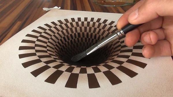 立体的すぎる!紙上に描かれた3Dドローイング【錯視】 (2)