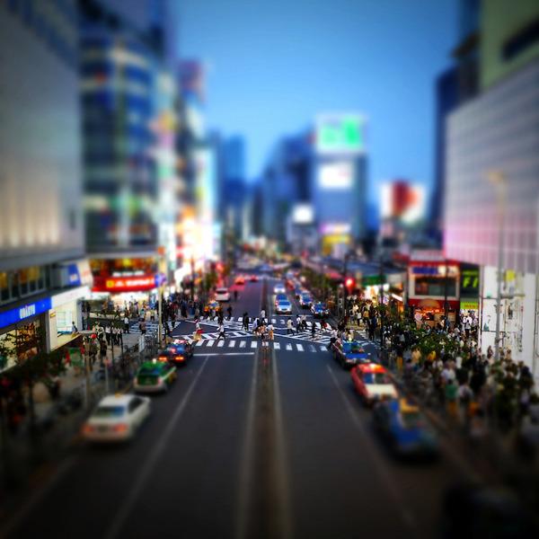 ミニチュアジオラマ風の東京の写真!チルトシフト (5)