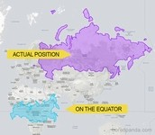 世界地図の見た目の大きさは嘘!?国の本当の面積を比較