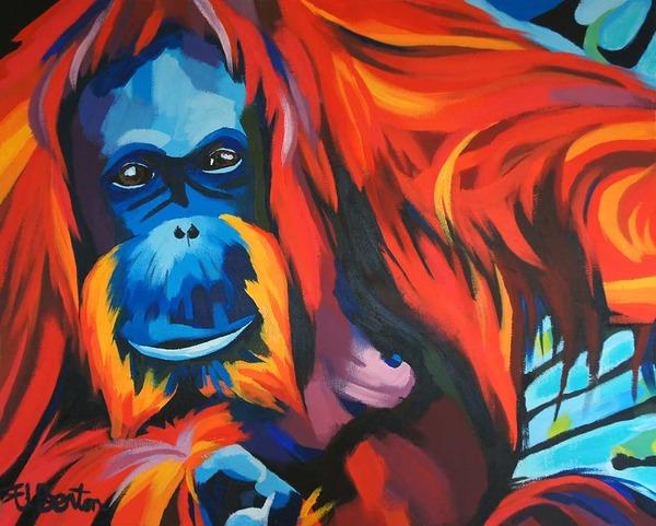 超カラフルな動物の肖像画シリーズ (11)