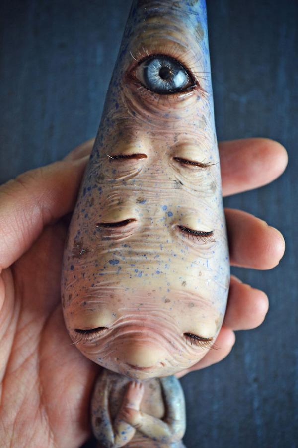 キモカワ!?ポリマークレイ製の手作りクリーチャー人形 (5)