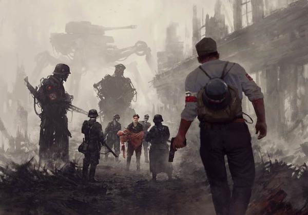 レトロな時代背景に機械的なSF要素。戦争を描いた空想世界 (3)