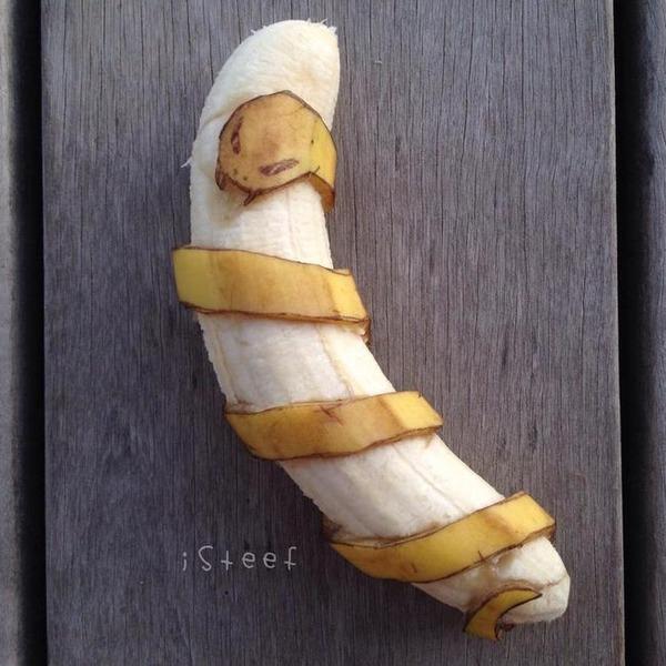 バナナのアート (1)