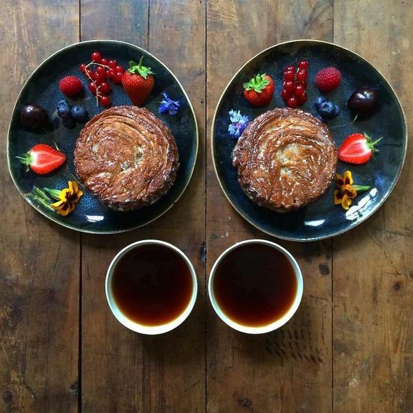 美味しさ2倍!毎日シンメトリーな朝食写真シリーズ (27)