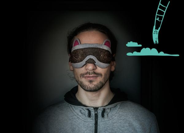 アライグマのアイマスク