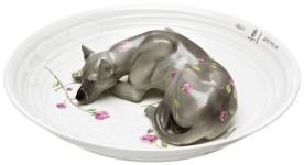 お皿のアート。可愛い動物の磁器 by ヘラ・ヨンゲリウス