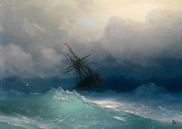素晴らしい波を描く19世紀の風景画家。海の迫力が伝わる絵画! (8)