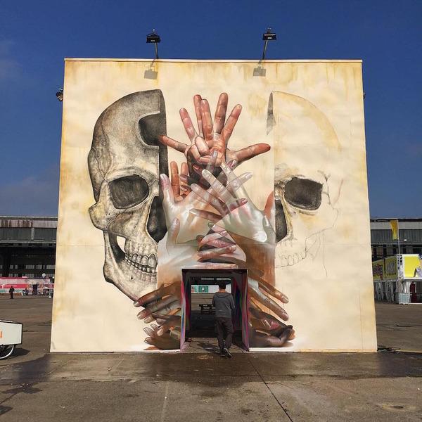 スピリチュアル…。生と死を描いた壁画アート (2)