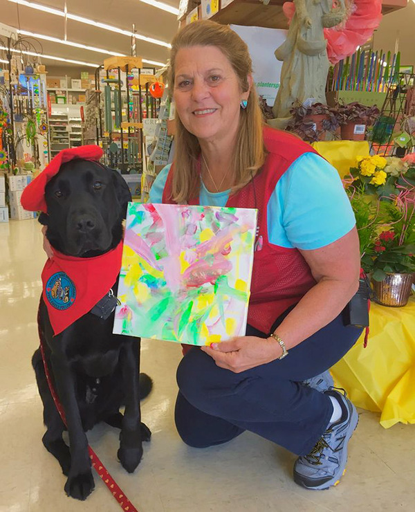 犬の画伯現る!補助犬から画家に転向したわんこの絵 (6)