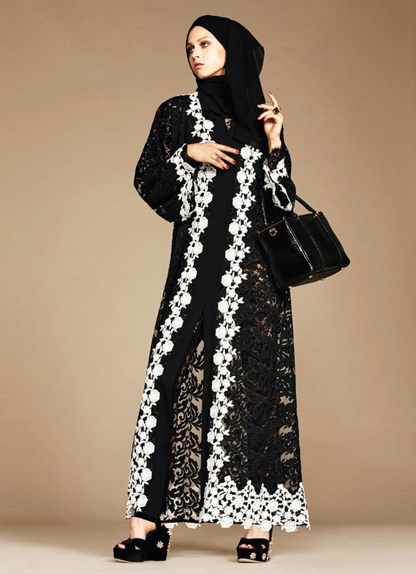 ヒジャブとアバヤのモダンファッション by ドルチェ&ガッバーナ (2)