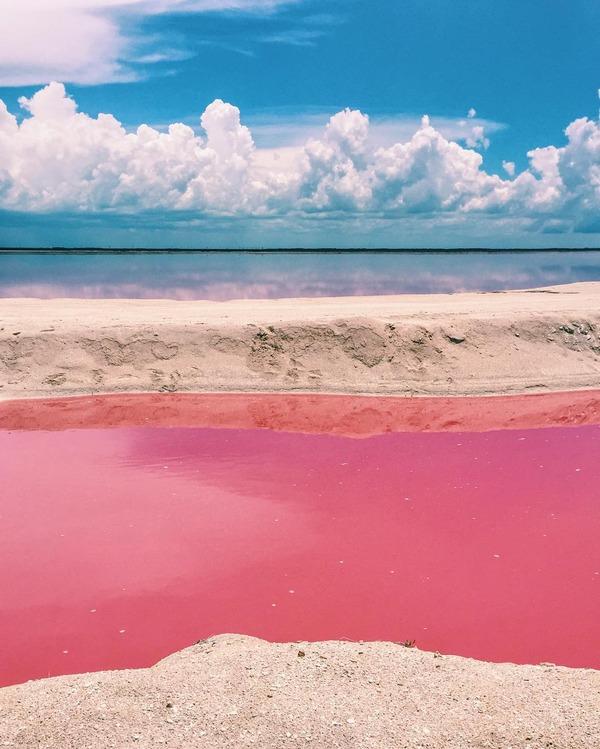 メキシコの塩湖が美しいピンクでミラクルファンシーだよー (9)