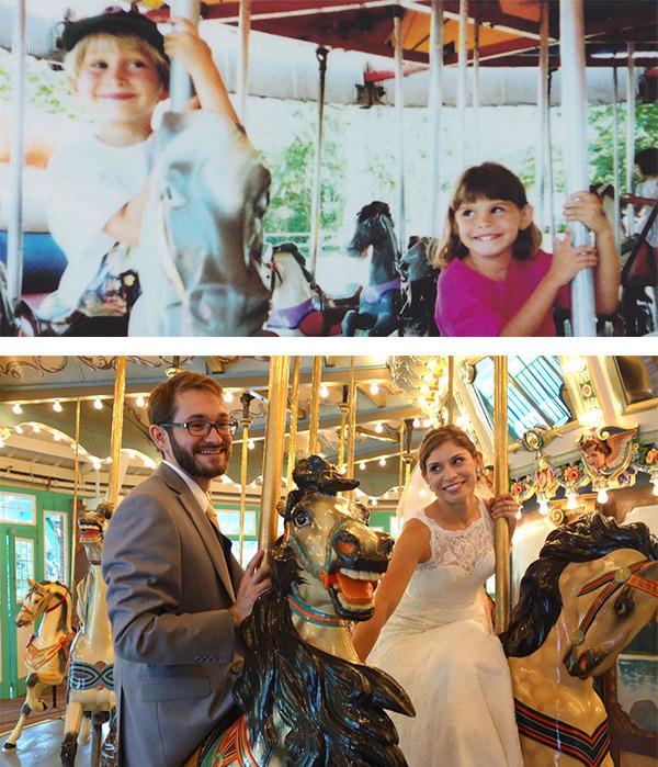 3歳の時に出会った二人は結婚!