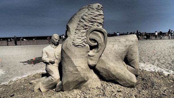 砂の彫刻コンテスト ハンプトン・ビーチ (8)
