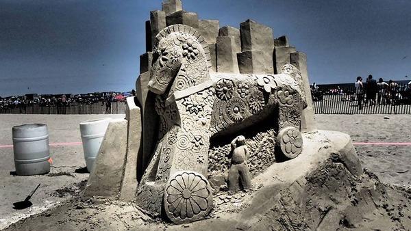 砂の彫刻コンテスト ハンプトン・ビーチ (19)