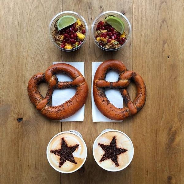 美味しさ2倍!毎日シンメトリーな朝食写真シリーズ (8)