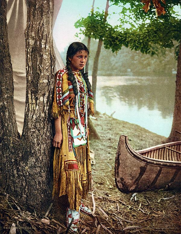 インディアン(ネイティブ・アメリカン)の貴重なカラー化写真 (44)