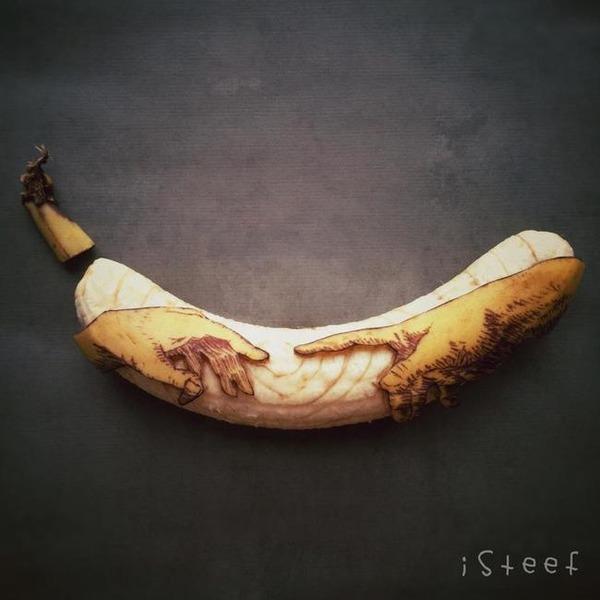 バナナのアート (6)