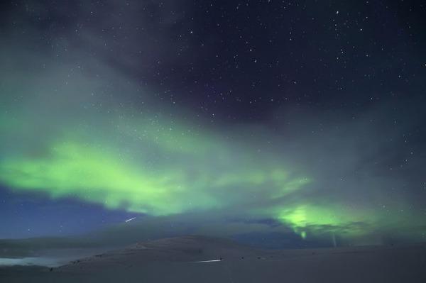 フィンランド北欧の美しい夜空。満天の星の画像 4
