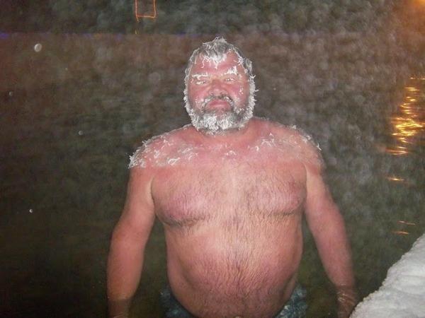 温泉だから寒くない?
