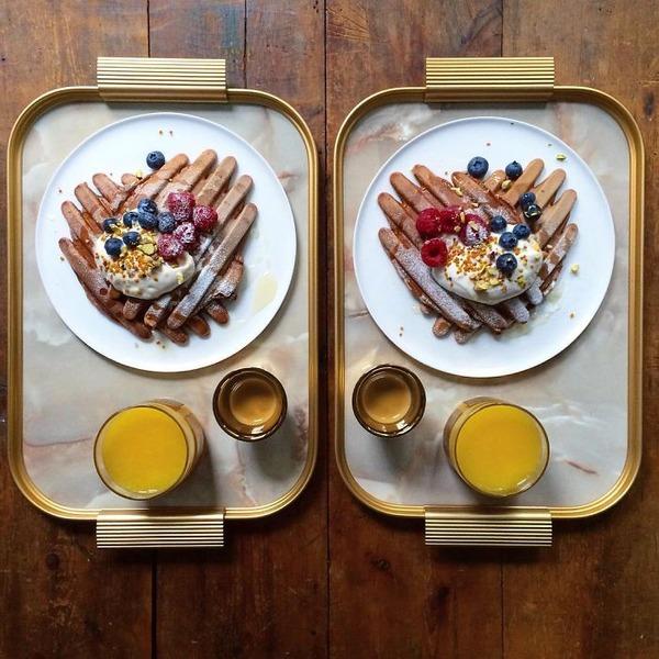 美味しさ2倍!毎日シンメトリーな朝食写真シリーズ (32)
