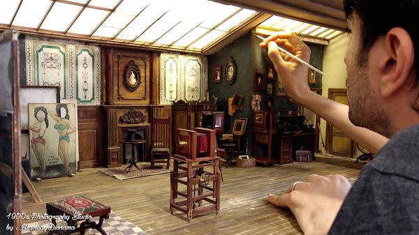 1900年代初頭の写真館をミニチュア・ジオラマ模型で再現 (5)