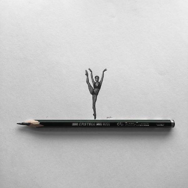 超小さいのに写実的!鉛筆の芯で描くミニチュア肖像画 (2)