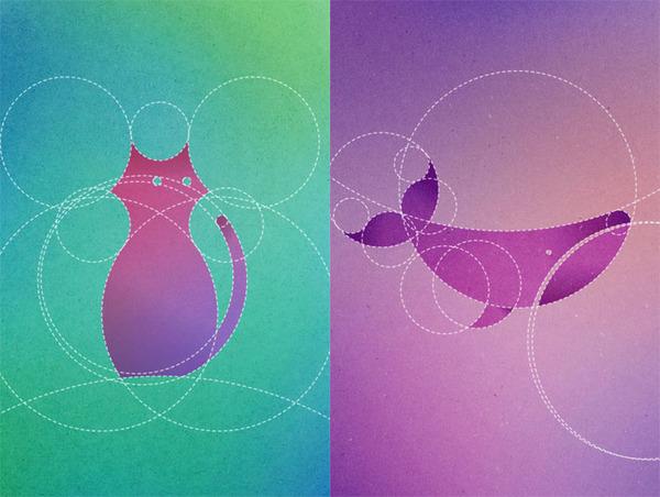 数学的な美しさ?13の円で描く動物たちのイラストレーション (1)