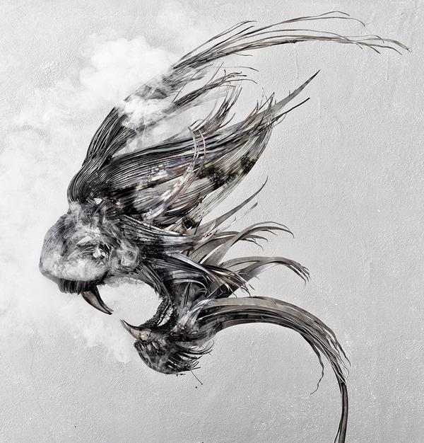 虎(トラ)の金属彫刻 3