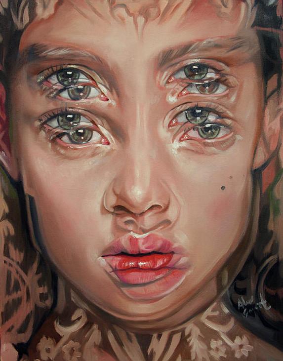 ダブルビジョンの錯視絵画アート  アレックス・ガーランド 8
