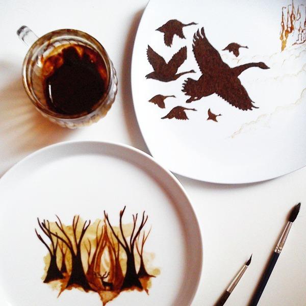 美しいコーヒー画,珈琲画 (9)