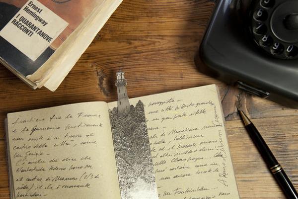 silverleaf 銀の彫刻が施された栞(しおり)13