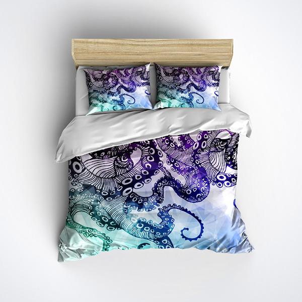 タコ布団カバーと枕