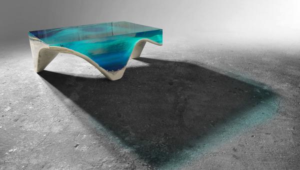 清涼感が半端ない!海からインスピレーションを得たテーブル (4)