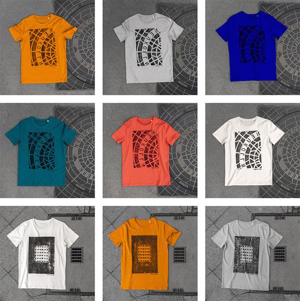 街のマンホールがTシャツプリントに早変わり (4)