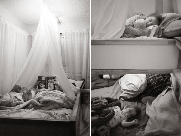 ビッグなオリジナルベッド!家族7人が皆で一緒に眠れるベッド (2)
