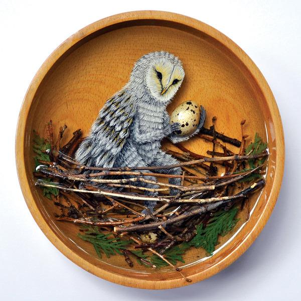 人間に進化したかのような森の動物アート Drew Mosley