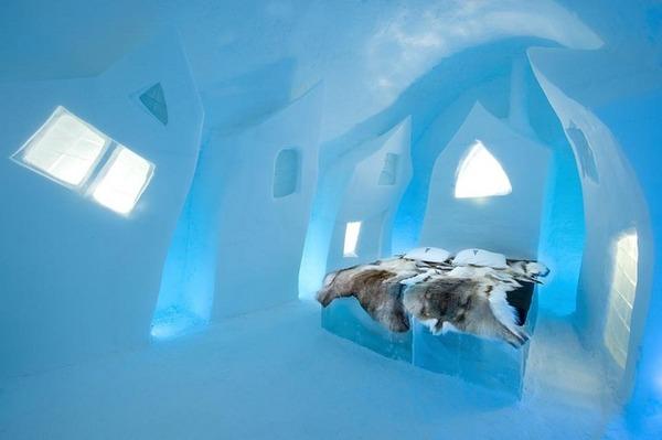 凍える寒さ!スウェーデンの氷の宿屋『アイスホテル』 (6)