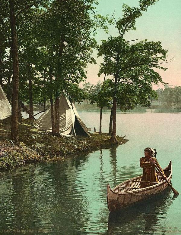 インディアン(ネイティブ・アメリカン)の貴重なカラー化写真 (22)