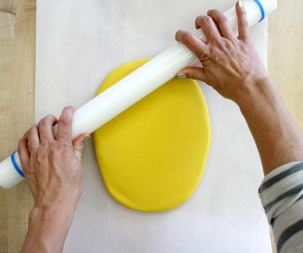 ケーキの形を作る