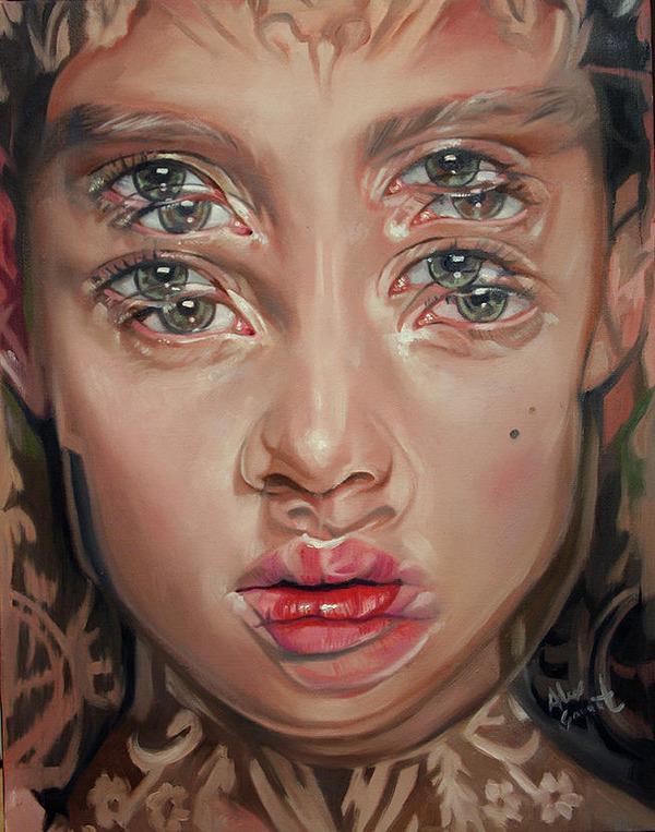 ダブルビジョンの錯視絵画アート  アレックス・ガーランド 3