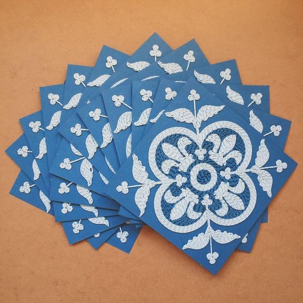 紙のカーペット!丸めて切った紙で繊細な模様を作るアート (7)