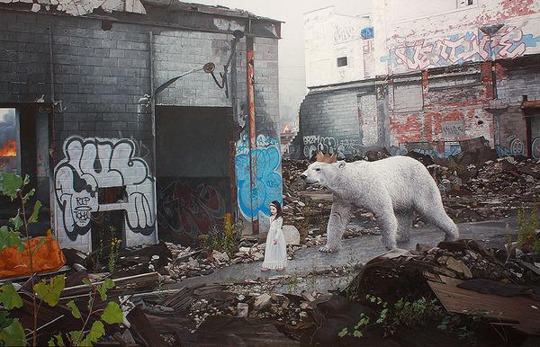 少女と動物と街。壊れた世界のコントラストをリアルに描く (1)