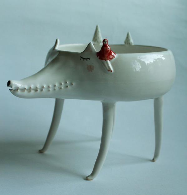 ほのぼのかわいい!瞳を閉じた動物たちの手作り陶磁器 (2)
