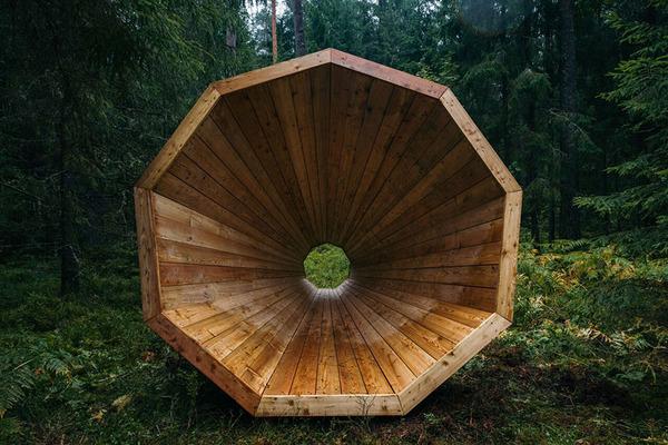 癒し効果がきっと一杯!森の音を聴く超大きなメガホン (2)